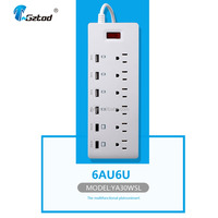 Convenient Outlet Desktop Power Socket ,Electronics Power Strip with USB for US FCC certified