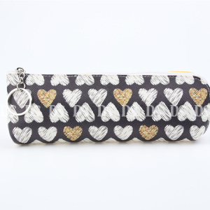 Factory Direct Customized Size Heart Pattern Cloth Pencil Case