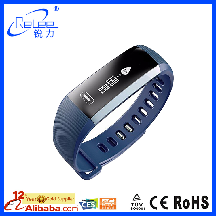 Hot Selling Blood Pressure Heart Rate watch Monitor smart bracelet for Android and IOS wristband