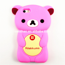 High quality Phone Cover Case Promotional Gift Cute Bear Silicone Cell Phone Case For iPhone 5/5s