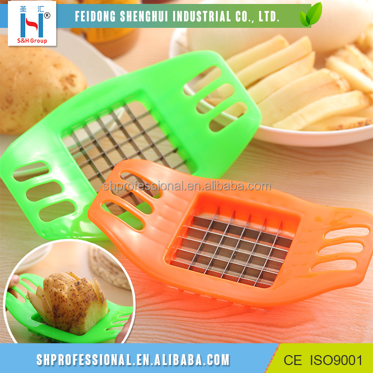 vegetable kitchen tools potato chips french fries plastic potato slicer cutter