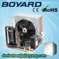 zhejiang boyard r22 r404a vertical condensing unit for cold room freezer room transport system