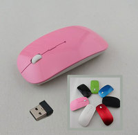 Hot New Optical Wireless 2.4 GHZ Laptop PC Computer Netbook Mouse 4 Keys 1600 dpi High Quality Wheel Mouse Pink / Rose