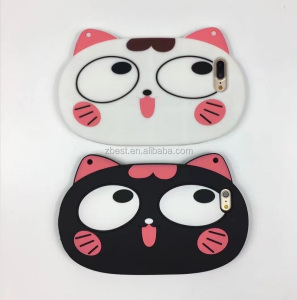 Cute cartoon 3D cat soft silicone mobile phone case for iphone 6 6s,mobile phone accessories