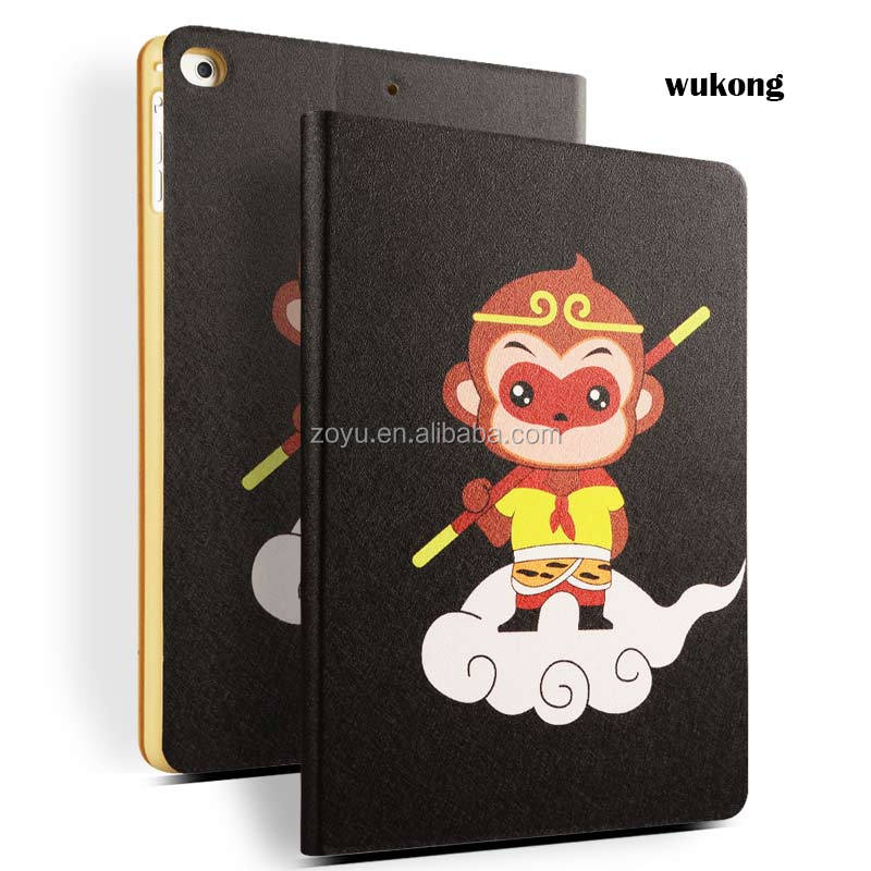 wholesale cheap price color printing pu leather caes for ipad air 1 2 for ipad air 12 case cover