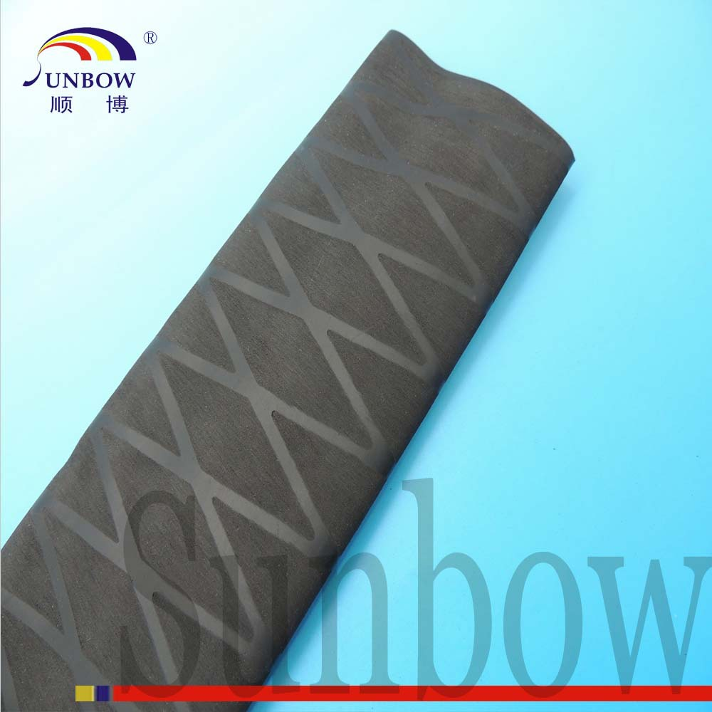 Hockey Stick Tape Hot Shrink Tube 1.8:1 Nonslip Cross-lined Polyolefin Heat Shrinkable Tubing