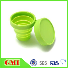 Foldable silicone cup lid with FDA food standards