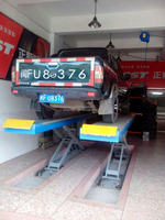 Hight quality garage equipment automotive scissor lift for sale 4500KG