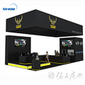 Detian offer Portable Exhibition Booth Modular Standard trade show exhibition Booth Display Stand Customized Design