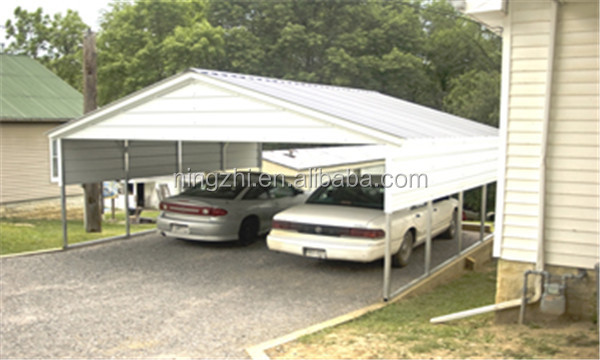 Carports For Cars 8 : Metal shelter carport for two car kits sale