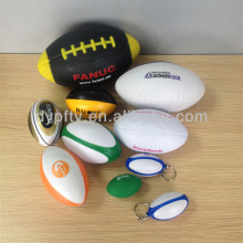PU stress foam rugby ball with logo printed