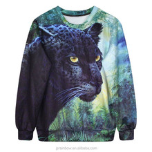 sublimation print sportwear animal leopard animal hoodies animal printed 3d sweatshirt