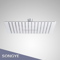 8 inch stainless steel square shower head overhead hand shower head