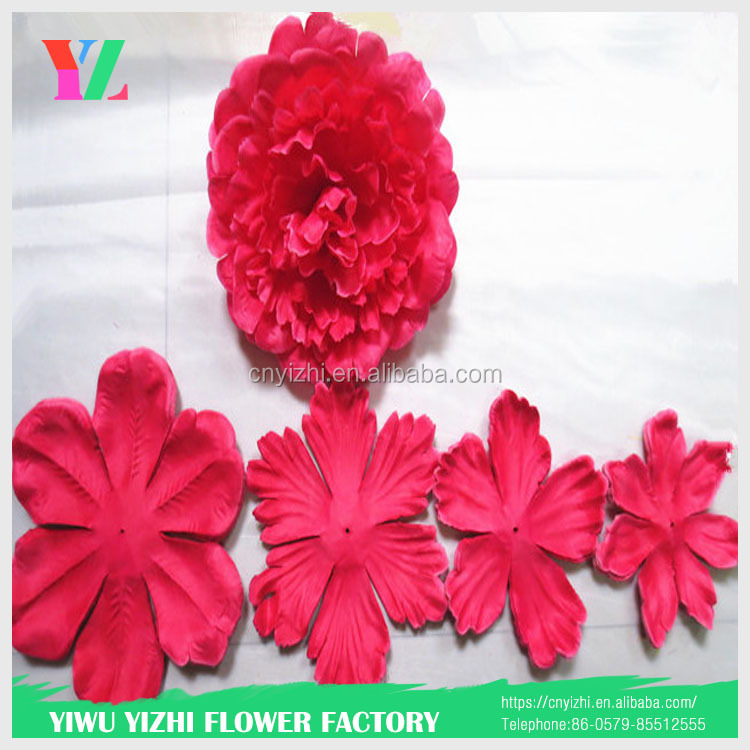 decoration artificial silk vision flowers wholesale marigold garland flower/ flower wall backdrop