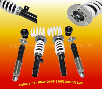 Steel adjustable coilover suspension kit for 318i 320i 330i E46 00 to 05 (Fits:B M W)