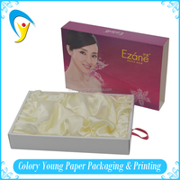 Factory Hot Sell Paper Cosmetic Gift Set Packaging Box With Silk Lining
