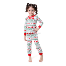 Christmas deer printed top long sleeve girls shirt matching baby pants festival designer suit top brands winter clothing