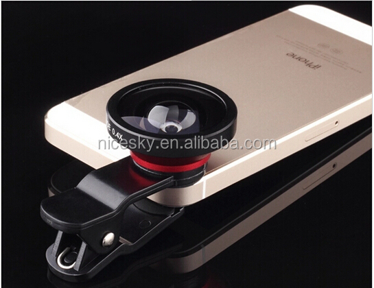 2015 new type fisheye macro 0.4x suer wide angle lens for iPhone/Samsung mobile lens