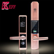 Save cost zinc alloy optical digital fingerprint lock with touch screen keypad double sided