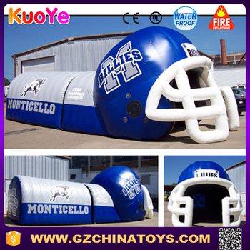 inflatable football helmet tunnel sport tunnel