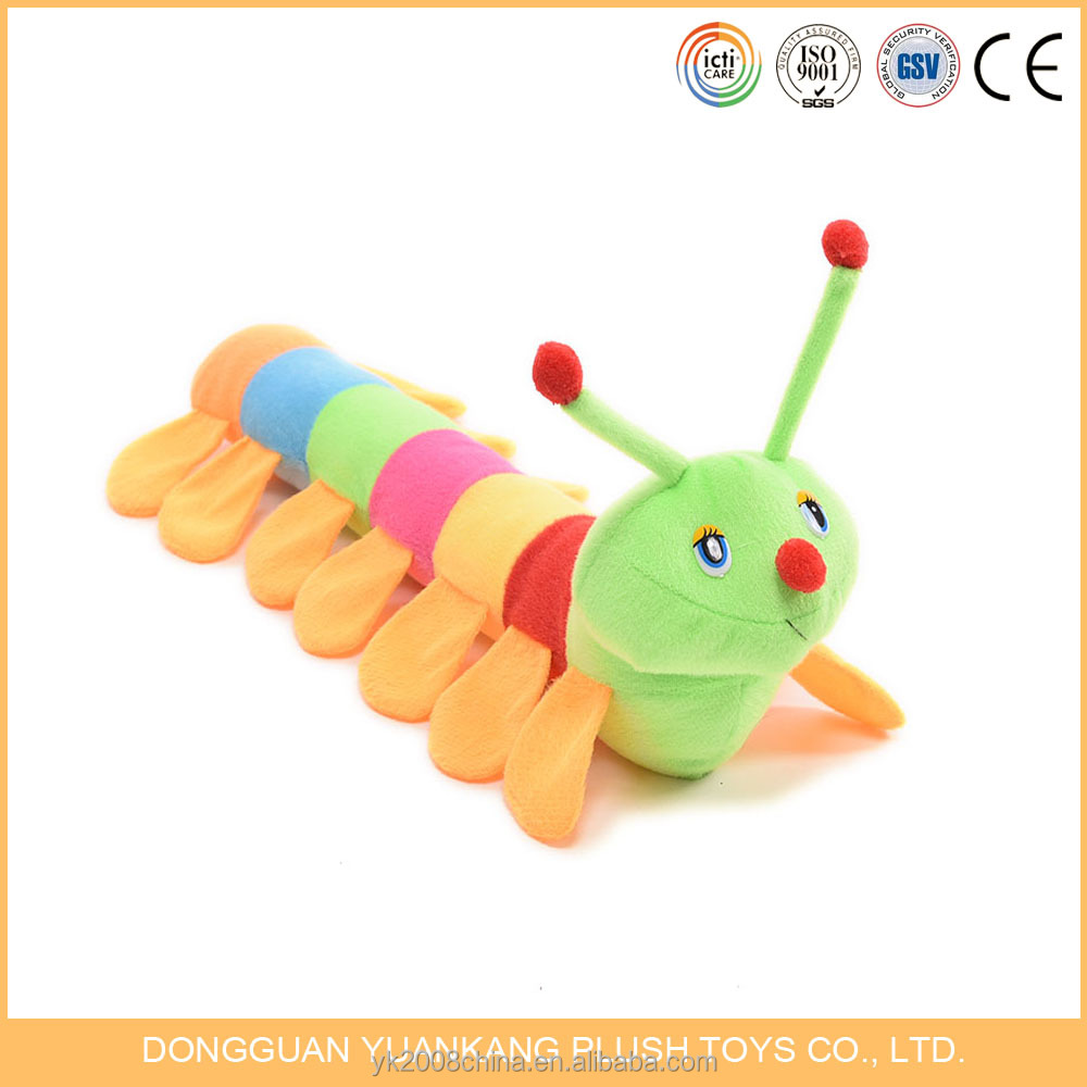 Embroidery worm plush animals toy