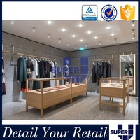 China factory direct best selling customized clothes wooden fashion shop fittings