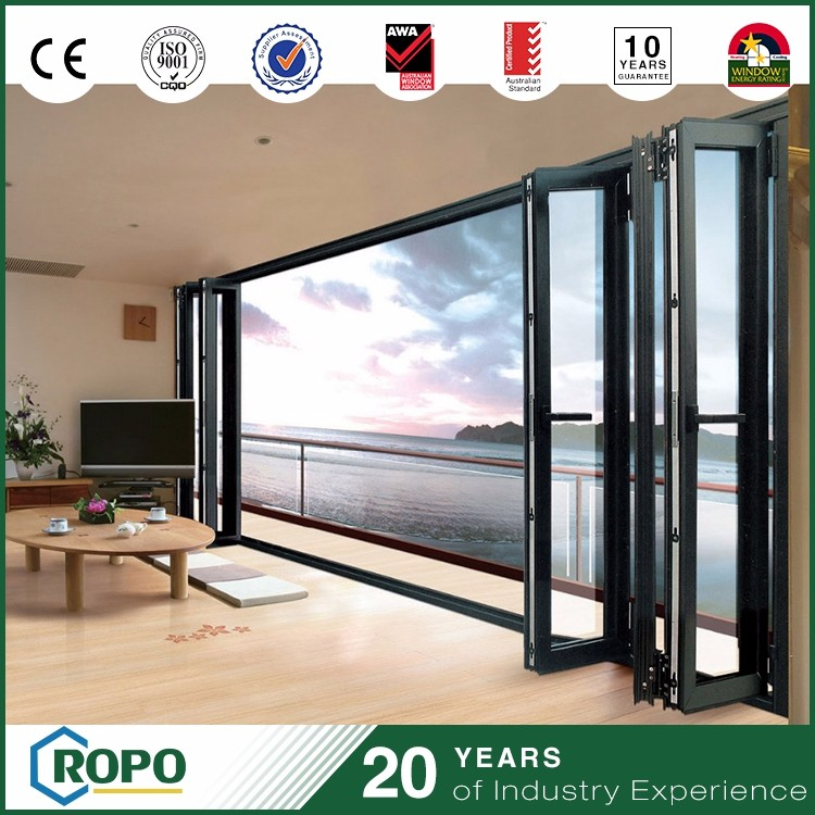house steal gates float glass folding door outdoor