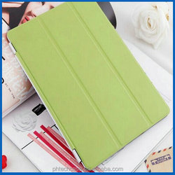 China Supplier High Quality 3 Flod Smart Cover Leather Case For Ipad 6 With Stand Design
