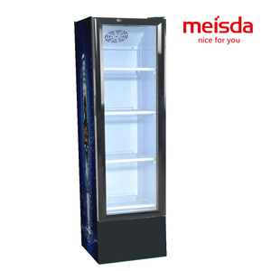 Commercial supermarket upright glass door refrigeration display cabinet