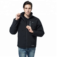 KCFIR Wholesale High Quality Winter Outdoor Black Soft shell Jacket Heated Battery Electric Thermal Jacket