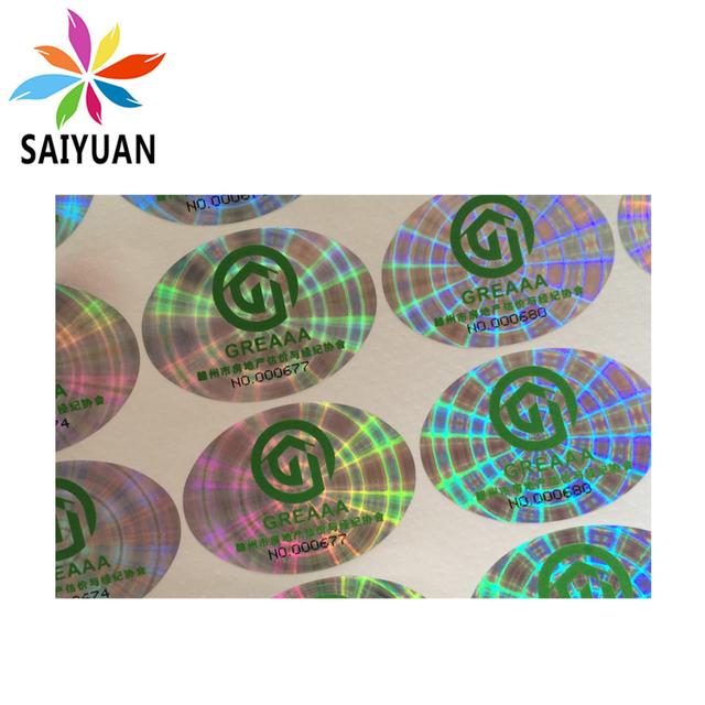 Hologram anti-fake fragile paper sticker for wine bottle