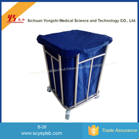 Moving stainless steel Hospital Dirty Clothes laundry trolley Cart trolley for sale