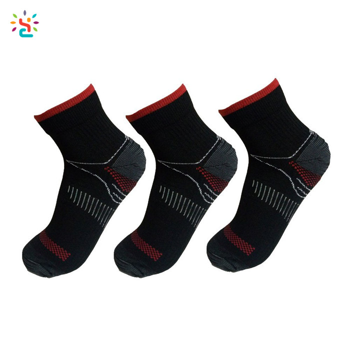 Plantar fasciitis arch support socks ankle compression sock low cut gym running sport socks for men