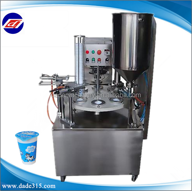 Rotary Yoghurt Cup Filling Sealing Machine
