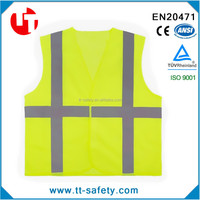lime yellow class 2 high visibility reflective road traffic highway safety vest