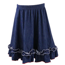 girls wearing short hot selling in mini solid denim comfortable baby girl skirts