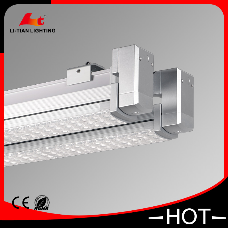 High brightness 130lm/<strong>w</strong> 60w double line design 2x30w led linear light trunking system ce cb