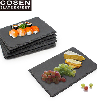 BSCI FDA passed factory direct wholesale natural stone black slate placemat
