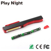 Clip Portable Best Bright Flashlight Pocket Pen Magnetic COB Led Work Light