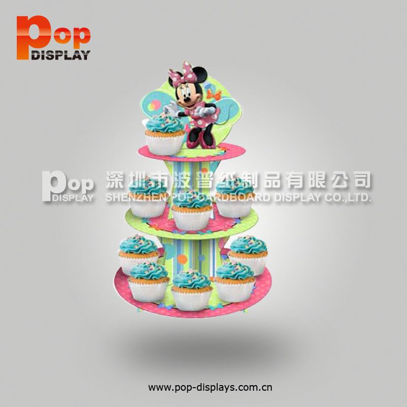New wholesale pop up cardboard cupcake display stand for wedding party