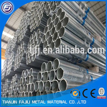 Round galvanized pipe/ galvanized steel pipe price