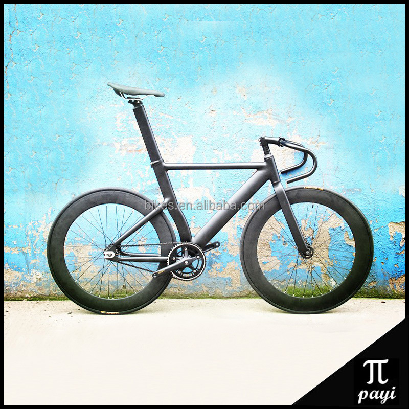 700C Fixie Road Bike 70mm Magnesium Alloy 5 Spoke Wheel Rim Fixed Gear Urban Track Bike Cycle Road Bike Fixie Bicycle