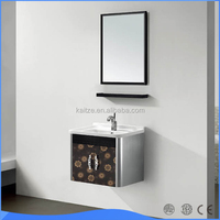 Small wall mounted stainless steel bathroom vanity cabinet with different size