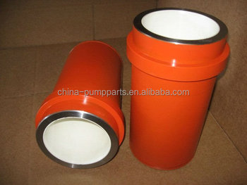 API standards ceramic cyliner zirconia tube of F1300/1600 mud pump
