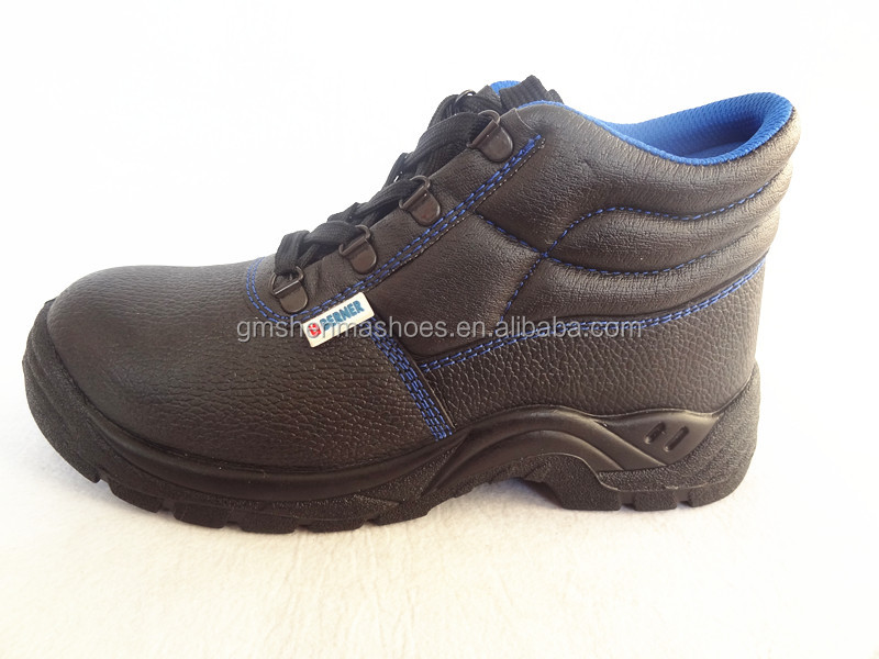 high quality cow leather ,pu outsole SM171 safety shoes dubai