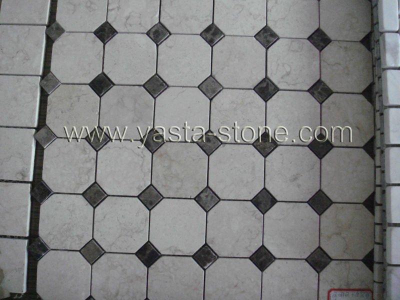 Hexagon marmormosaik fliesen mosaik produkt id 459578806 - Fliesen hexagon ...