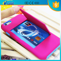 Hot sales mobile phones and accessories silicone pc wallet stand phone case for iphone 6 plus