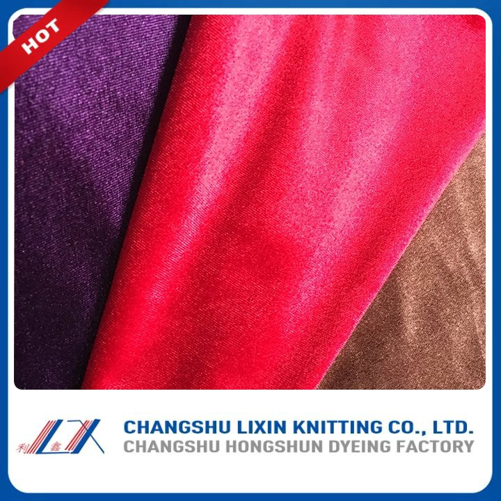 Hot China Products Wholesale Flocked Sofa Fabric Velvet