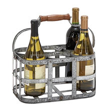 Metal beer bucket ice bucket 6 bottles drink holder carrier