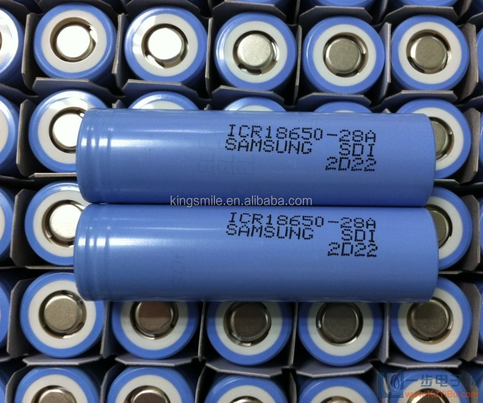 original 18650 Lion 2800mah Samsung ICR18650-28A battery